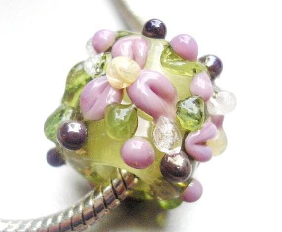 Lampwork Beads for Troll, Pandora, Biagi and other European Bracelets -Sweetheart