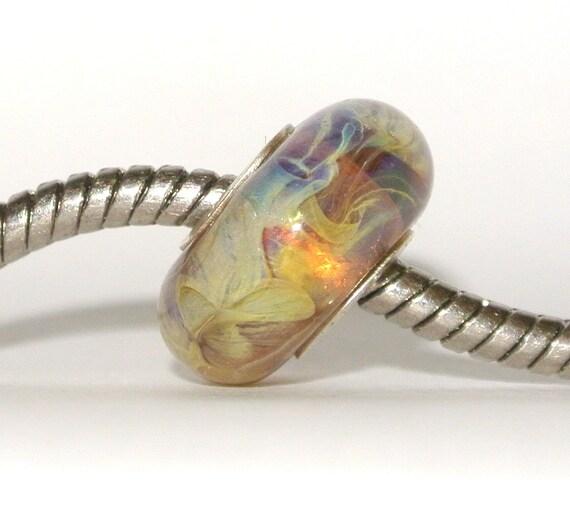 Lampwork Glass Bead for Trollbead, Biagi and other big hole bead European Bracelets - Omega Nebula