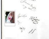 Polaroid or Fujifilm Guest Book Instax MINI Photo 100 Photos- Custom Materials,and free Customized monogram card