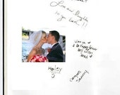 Guest Book Polaroid FujiFilm Instax 200- 210 Wide Format Photo for 50 Photos- 50 fabrics, 10 Satin Ribbon Colors,  Customized Monogram Card