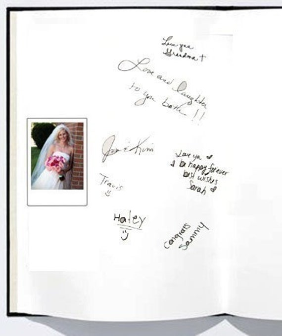 Polaroid or Fujifilm Guest Book Instax MINI Photo 100 Photos- Custom Materials,and free Customized monogram card