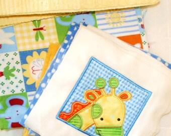 Too, Too Cute Jungle Cuddly Minky Blanket Kit