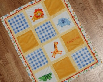 """Personalized  Minky Baby  Blanket """" Its a jungle out there"""""""