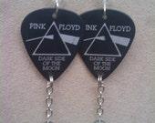 Pink Floyd dark side of the moon Long Guitar Pick earrings