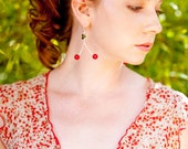 Cheery Cherry Fossil earrings