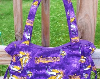 Minnesota Vikings Football NFL - Handbag, Purse, Tote, Shoulder Bag, Outside Pockets