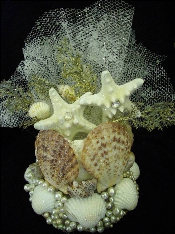 Wedding Cake Topper, Sea Shells