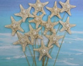 Large Starfish for a Wedding Bouquet or Centerpiece - 12 Dramatic Crystal Starfish