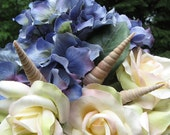 Seashell  Stems - Natural Auger Seashells on Wires for Bouquets or Centerpieces