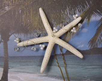 Pencil Starfish Hair Pin Vine - Crystal Pencil Star