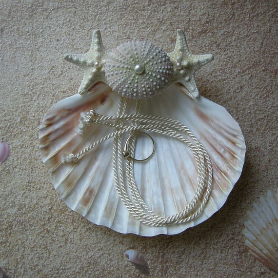 Sea Urchin - Seashell Ring Bearer's Pillow