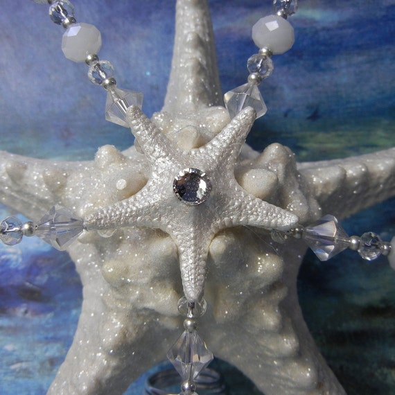 Starfish Tree Topper - Christmas Tree Topper - Glitter Crystal ...