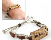 Jewelry, Eco-Friendly, Bracelets, Coconut Shell,  Natural, Hand Crafted, Personal Engraving