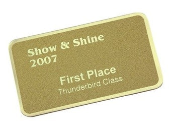Name Tags, Name Plate, ID Tags, ID Badges, Metal,  Personalized Engraving