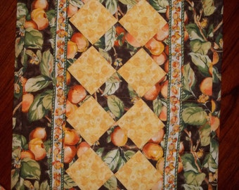 Peachy Quilted Table Runner
