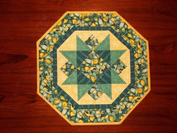 Squash Quilted Table Topper