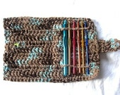 2.00 Shipping SALE - Crochet Needle Case in Vintage Expresso