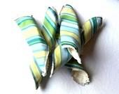 5pk - Soft Chenille Washcloths in Summer Stripes