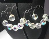 Swarovski Hoop Earrings, Sparkling, Silver