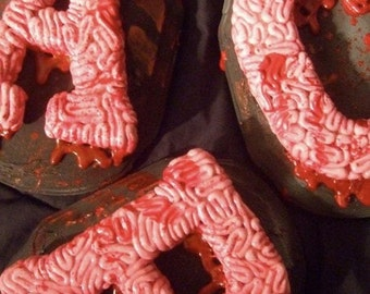 Custom Brain Letter Plaque-1 Bloody Brain Initial