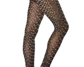 Hand printed cotton tights, Knots, one size, Fractal collection
