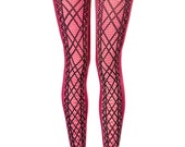 Zigzag, printed tights, one size, Fractal collection