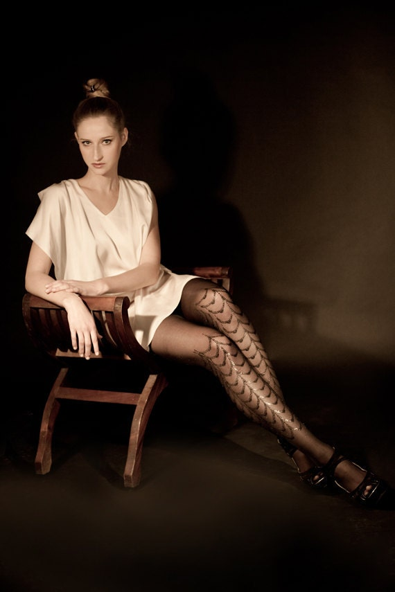 Christmas sale! Black on black tights, Cabaret available in S-M L-XL