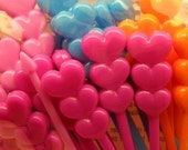 Cute Triple Hearts Long Toppers (set of 30)