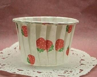 Cute Strawberries 1 3/4 inch cupcake cups (set of 25)