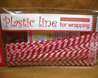 Cute Red Stripes Twisters (set of 50)