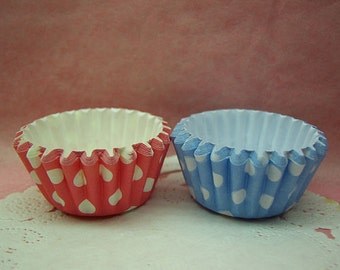 Cute Polka Dots Duo Round choco cups (set of 12)