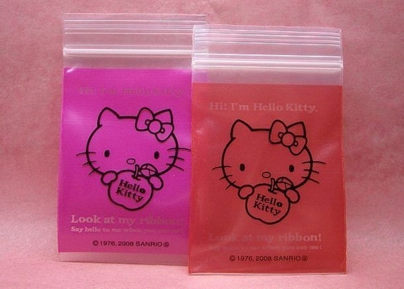 Cute Hello Kitty Ziploc MINI gift bags (set of 10)