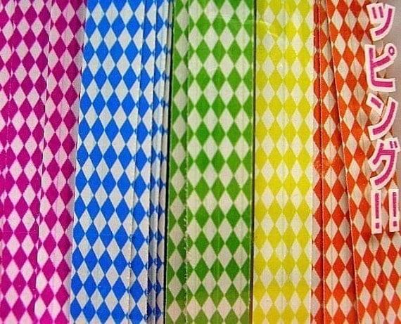 Cute Checkers twist ties (set of 40)