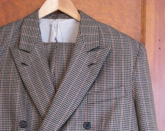 Double-Breasted Houndstooth Suit