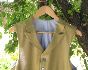 Custom Linen and Silk Summer Vests