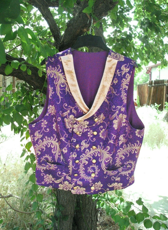 Brocade Waistcoats (Double-Breasted, Curved Collar) by MacheteNSons steampunk buy now online