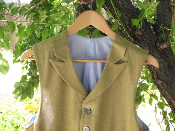 Custom Linen and Silk Summer Vests