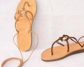 ANANIAS handmade Greek Roman leather Sandals