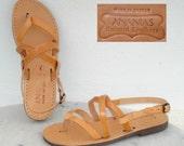 ANANIAS Greek Sandals Roman Grecian handmade leather sandals for rmen
