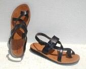 SPECIAL SALE - Roman Greek leather sandals size 7, EU size 38