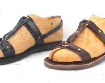Greek handmade leather sandals for men