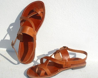 Handmade Roman Grecian leather sandals for men