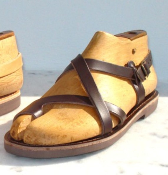 bcf74a0e7e0722 ANANIAS Greek Grecian Roman handmade leather Sandals from Greece