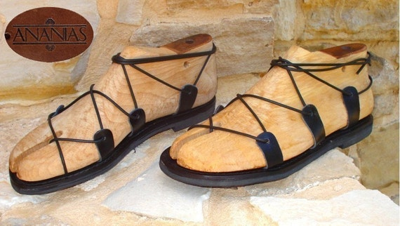 Grecian handmade leather sandals for men from Greece