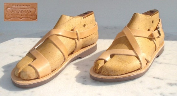 ANANIAS Greek Roman handmade leather Sandals for men