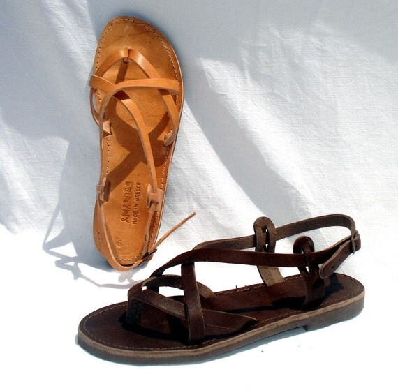 ANANIAS Greek Sandals Roman Grecian handmade leather sandals-NEW STYLE