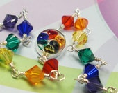 Rainbow Crystal Bracelet: Rainbow Bright
