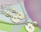 Hunger Games Necklace and Earrings Set: Dandelion in the Spring