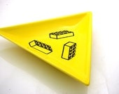 SALE Yellow Lego (R) Modern triangle Serving Dish