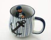 Anchor mug with stripes